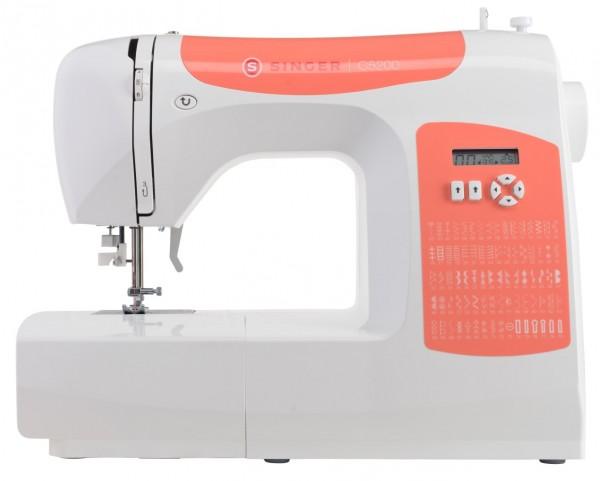 SINGER C5205 Orange mit Mega-Anschiebetisch