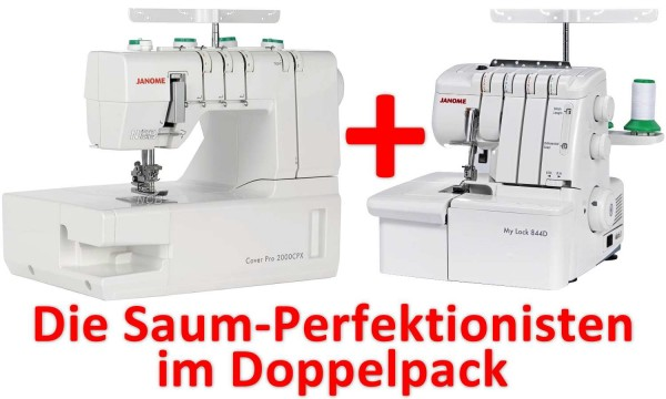 JANOME Sparpack MyLock 844D & CoverPro 2000CPX