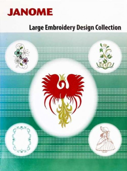 JANOME Large Embroidery Design Collection USB
