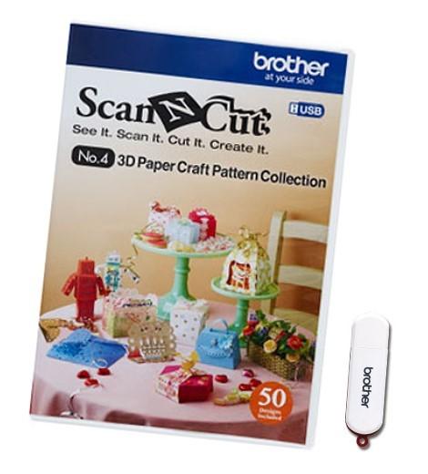 BROTHER ScanNCut Designs Nr. 4 3D Papiermodelle