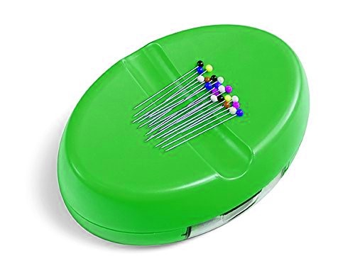 Magnet-Nadelkissen mit Nadelbox - grün