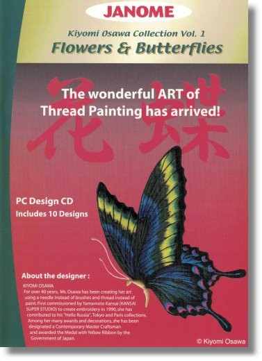 JANOME Stickmuster-CD Flowers & Butterflies