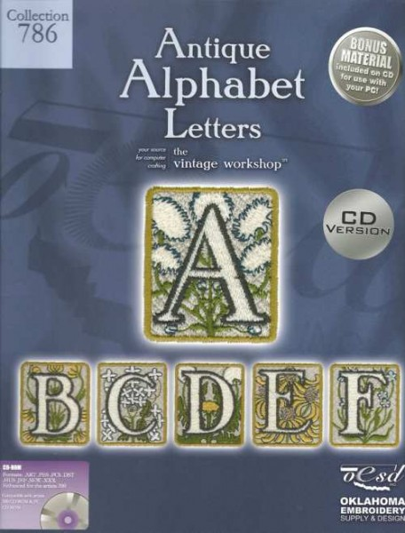 OESD Stickmuster Design-CD Antique Alphabet Letters