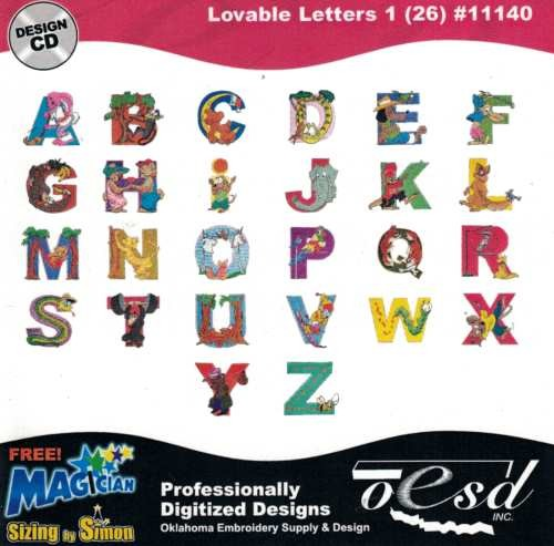 OESD Stickmuster Design-CD Lovable Letters 1