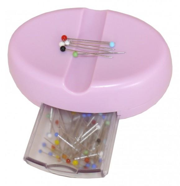 Magnet-Nadelkissen mit Nadelbox - rosa