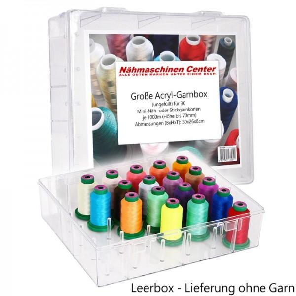 Acryl-Garnbox für 30 Konen Stickgarn - ungefüllt