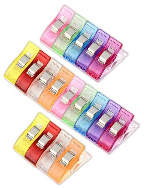 Näh-Clips 20 Stück farblich sortiert