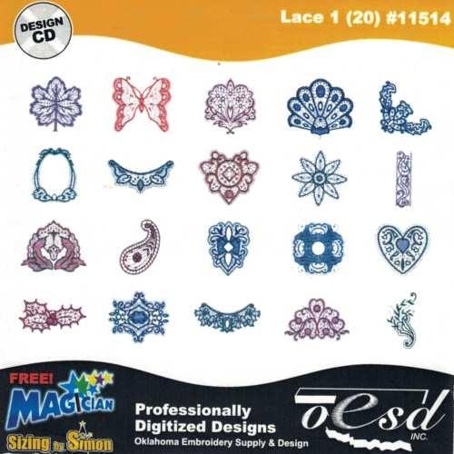 OESD Stickmuster Design-CD Lace 1