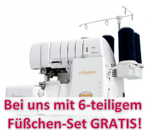 BABY LOCK Enlighten BLE3ATW-2 mit Füßchen-Set