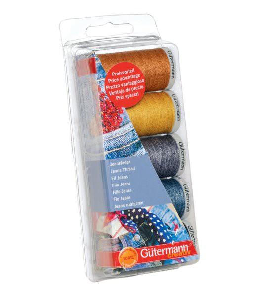 GÜTERMANN Nähfaden-Set Jeans mit 5 Farben