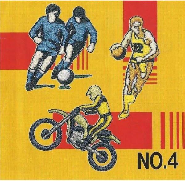 BROTHER Stickmusterkarte Nr. 04 Sport
