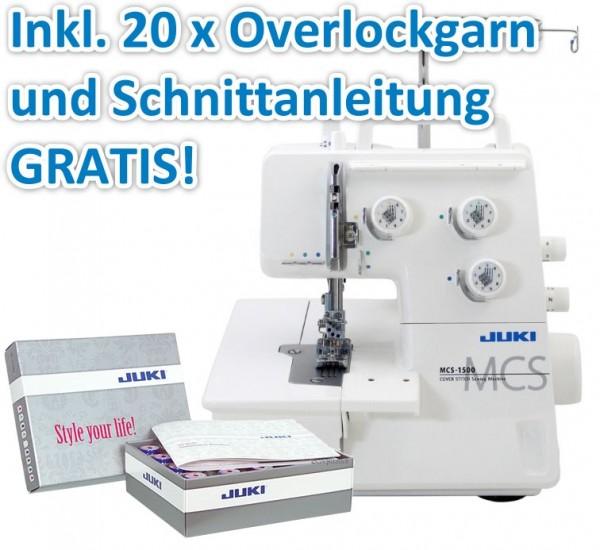 JUKI MCS-1500 Coverlock inkl. Garnbox