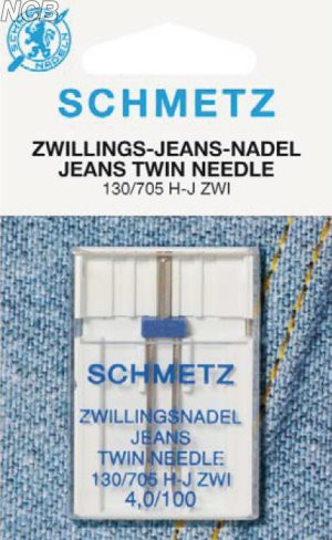 Zwillings-Jeans Nadel - Nadelabstand 4 mm