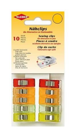 KLEIBER Näh-Clips 10 Stück farblich sortiert