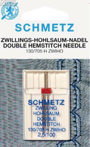 Zwillings-Hohlsaum Nadel