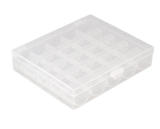 Spulenbox mit 25 CB-Unterfadenspulen aus Kunststoff