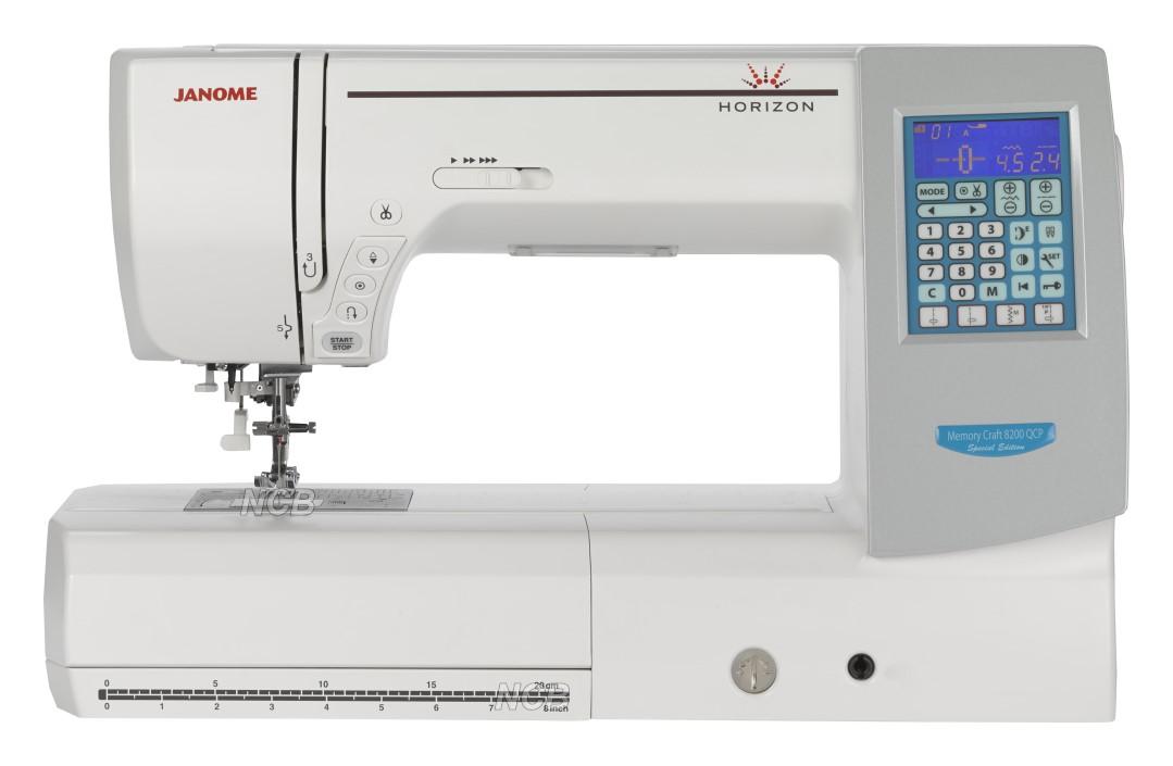 Nähmaschine Center = JANOME MC 8200 QCP Special Edition  NAEHMASCHINENCENTERDE
