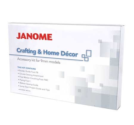 JANOME Crafting & Home Decor Set (9 mm)