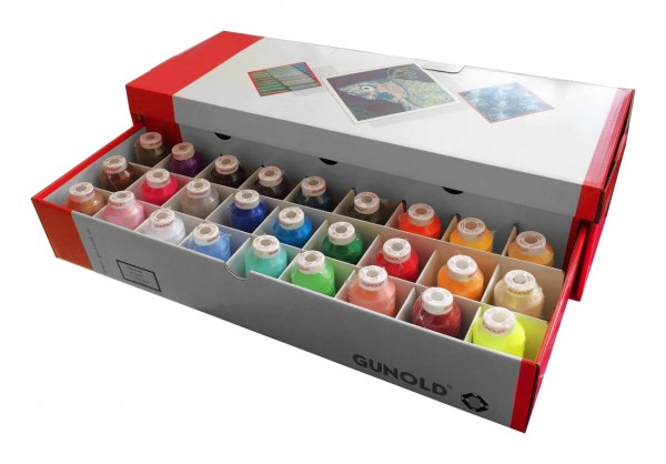 GUNOLD POLY 40 Stickgarn-Box 27 Farben