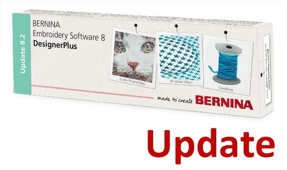 BERNINA Update von Designer Plus 5, 6, 7 auf Designer Plus V8