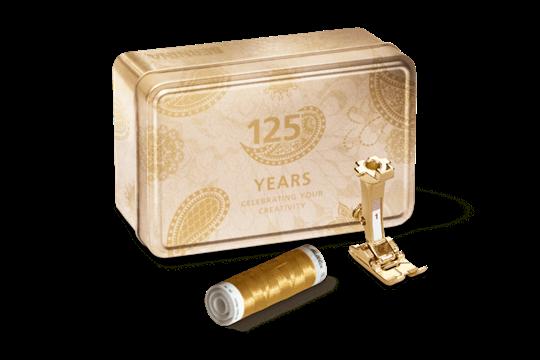 BERNINA Goldene Jubiläumsbox 125 Jahre