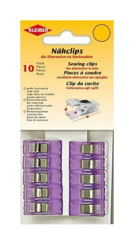 KLEIBER Näh-Clips 10 Stück violett