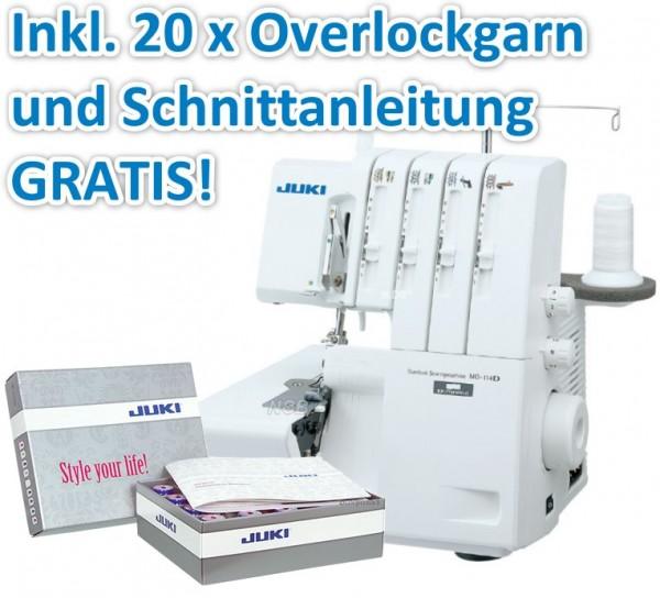 JUKI MO-114D Overlock inkl. Garn-Box