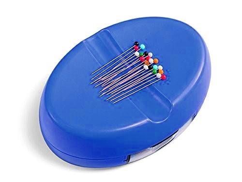 Magnet-Nadelkissen mit Nadelbox - blau